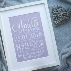 personalised framed print